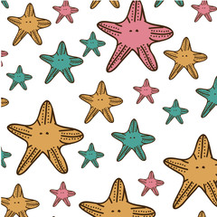 color starfish background icon, vector illustration design image
