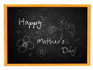 Happy Mother's Day on a blackboard