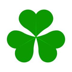 Green Lucky Four Leaf Irish Clover for St. Patricks Day. Vector illustration