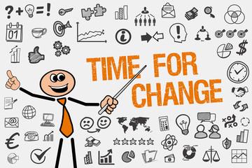 Time for Change / Mann mit Symbole
