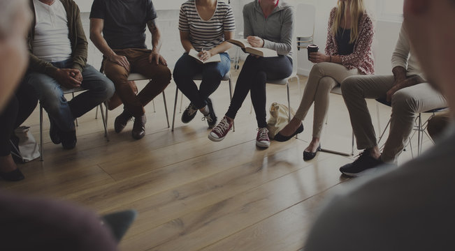 People sitting in a circle counseling
