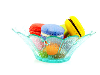tasty colorful macaroon a french sweet delicacy tasty colorful macaroon variety closeup