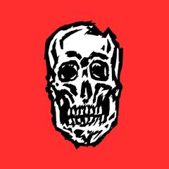 spooky skull vector illustration