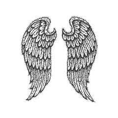 Dotwork Angel Wings