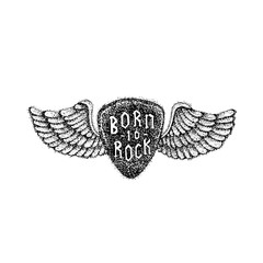 Dotwork Born to Rock