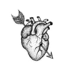 Dotwork Heart with Arrow