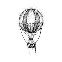 Dotwork Hot Air Balloon