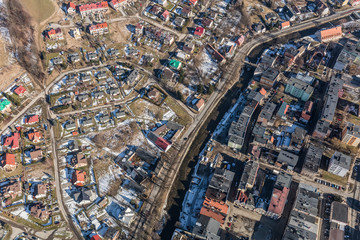 aerial  view of the Ladek Zdroj town