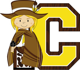 C is for Cowboy Learning illustration