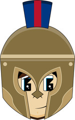 Cute Cartoon Greek Hoplite Soldier