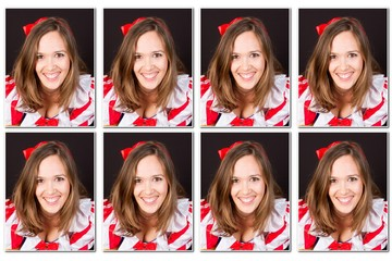 Official identity photos for administrative documents