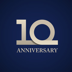 10 years anniversary paper number vector