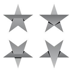 grey paper star overlay vector