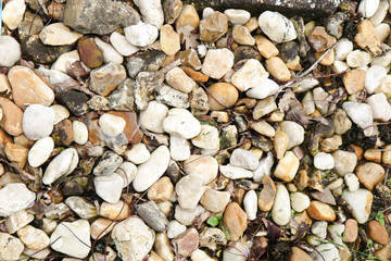 Stone background of a stream
