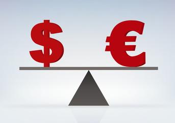 équilibre - Dollar Euro - égalité