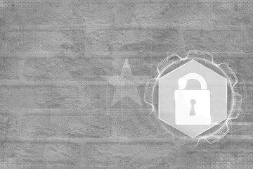 Burkina Faso network protected. Digital security concept.