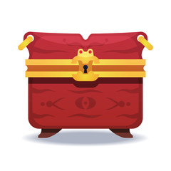 Colorful fantasy chest illustration. Assets set for game design and web application.
