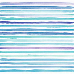 Watercolor striped colorful background, hand painted