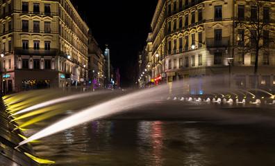 Down town Lyon France by night 2