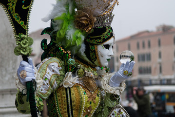 Carnaval de venise photo masque