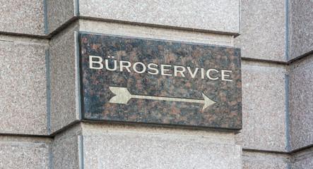 Schild 204 - Büroservice