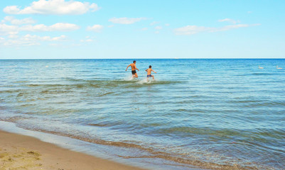 Holiday at the Baltic Sea, Poland.