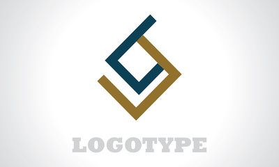 abstract shape square geometry logo