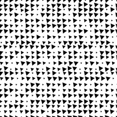 Seamless geometric black and white ornament generated by random triangles