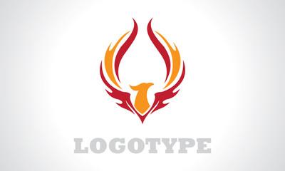 eagle wing asbtract logo