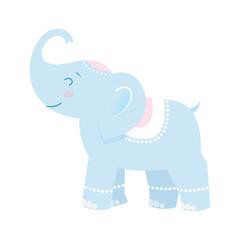 Funny blue elephant