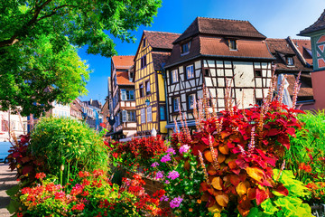 Fototapete - Most beautiful colorful towns - Colmar in Alsace, France