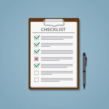 Checklist in notepad