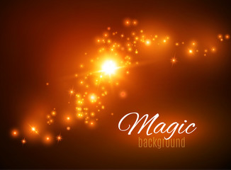 Magic Dust. Infinity. Abstract Background. Stars. Vector illustration
