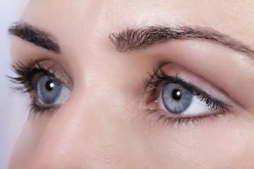 Les yeux...