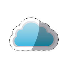 sticker cloud tridimensional in cumulus shape vector illustration
