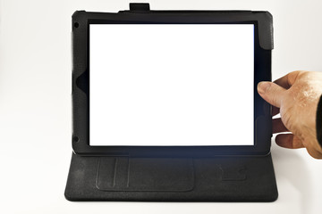 Hand on Tablet