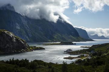 Landscape in Unstad, VestvŒg¿y commune, Lofoten Islands, Norway.