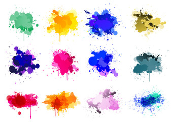 Colorful paint splatters