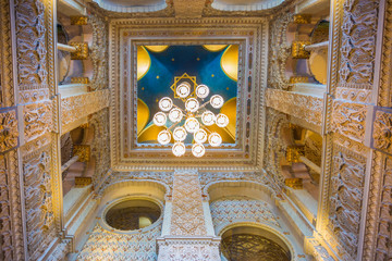 Orta, 19 July 2016. Luxury interior of Villa Crespi at Lake Orta, Piedmont Italy