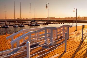 Sopot marina with yachts