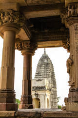 View through, famous ancient temples, Khajuraho Group of Monuments, India