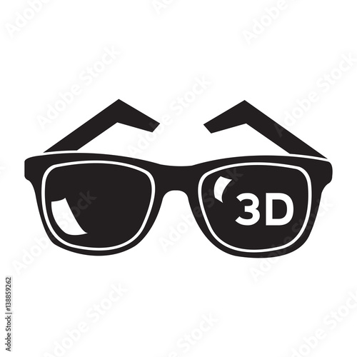 """Isolated 3d glasses on a white background, Vector ..."