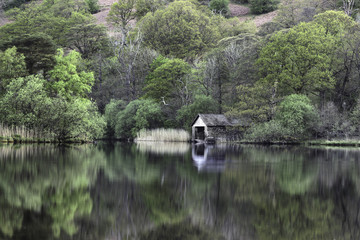 Boat house at Rydal water