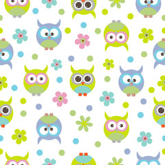Vector seamless pattern on the theme of birds.