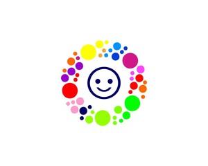 circular bubble cheerful