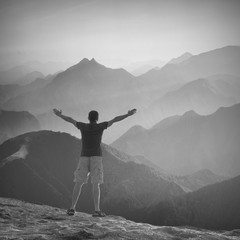 Enjoy the high peaks valley. Black and white