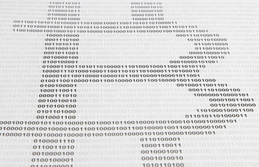 symbol of bitcoin is encrypted in binary code