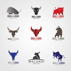 Bull Logo Design Template