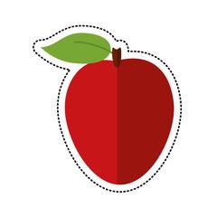 cartoon apple ripe fruit icon vector illustration eps 10