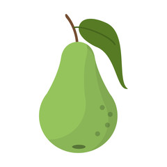 pear fruit nutrition icon vector illustration eps 10